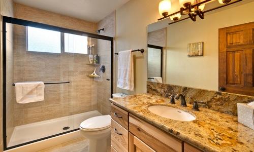 Lodging in South Lake Tahoe - Downstairs Bathroom